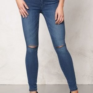 ONLY Royal Kneecut Jeans Medium Blue Denim