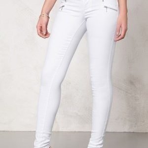ONLY Royal skinny zip jeans White