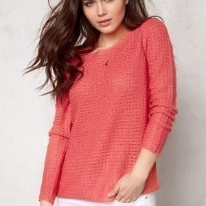ONLY Sia l/s Pullover Knit Rose of Sharon