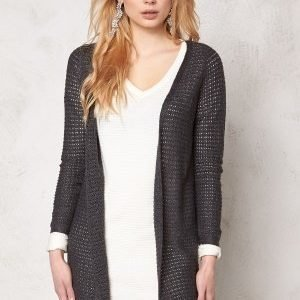 ONLY Sia l/s open cardigan Dark Grey Melange
