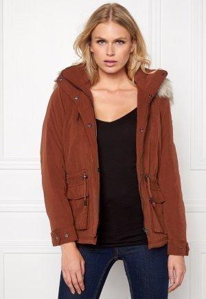 ONLY Starlight Fur Parka Cherry Mahogany - Vaatekauppa24.fi 153e30652b