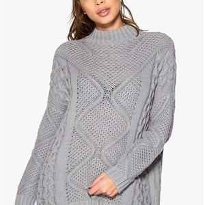 ONLY Stella Highneck Knit Light Grey Melange