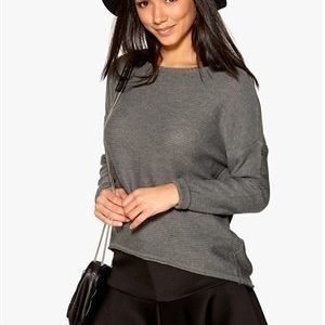 ONLY Tina L/S Pullover Knit Medium Grey Melange