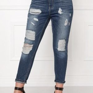 ONLY Tonni Boyfriend Jeans Medium Blue Denim