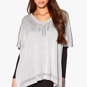 Object Alina Poncho Light Grey Melange