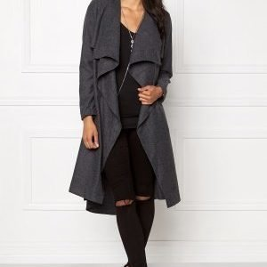 Object Ann Lee Wool Jacket Dark Grey Melange