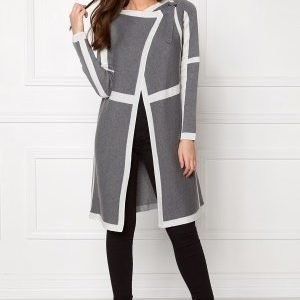 Object Anne L/S Knit Cardigan Grey Melange