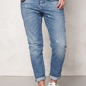 Object Antifit Ally Zip Jeans Medium Blue Denim