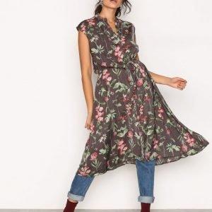 Object Collectors Item Objadrianne Print S / L Dress A Pa Loose Fit Mekko Musta