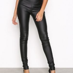Object Collectors Item Objbelle Coated Leggings Noos Nahkahousut Musta
