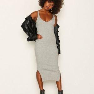 Object Collectors Item Objfreja Long S / L Knit Dress 90 Mekko Vaaleanharmaa