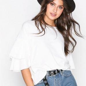 Object Collectors Item Objmadeline 3 / 4 Layered Sleeve Top Arkipaita Offwhite