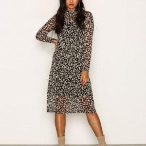 Object Collectors Item Objmariann L / S Long Dress 92 Loose Fit Mekko Musta