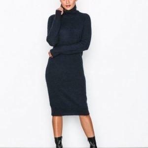 Object Collectors Item Objnete L / S Knit Dress .C Div Loose Fit Mekko Tummansininen
