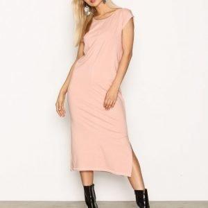 Object Collectors Item Objsandy S / S Long Dress .I Rpt Loose Fit Mekko Vaalea Pinkki
