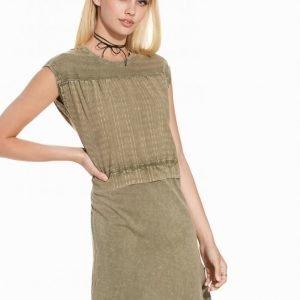 Object Collectors Item Objsavannah Knee Dress 85 Loose Fit Mekko Tummanharmaa