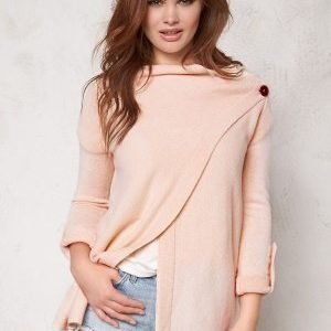 Object Deanna L/S Knit Cardigan Pink Champagne