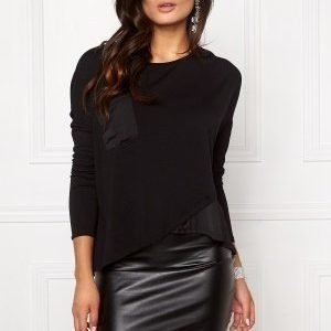 Object Elsa Petti L/S Top Black