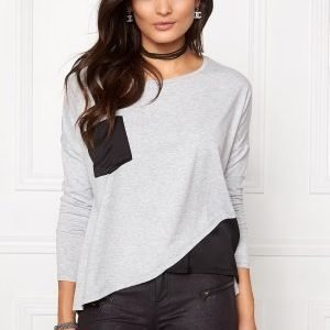 Object Elsa Petti L/S Top Light Grey Melange