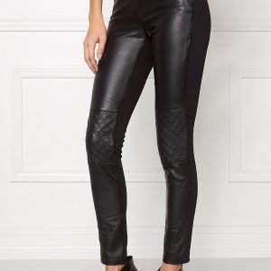 Object Jasmin Leather Leggings Black