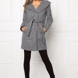 Object Jolie Coat Light Grey Melange