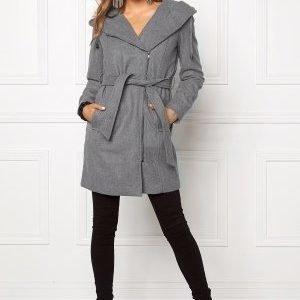 Object Jolie Coat Light Grey Melange