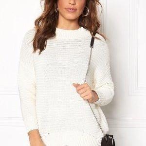 Object Maries L/S knit pullover Gardenia