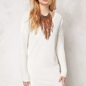 Object Nadine L/S Knit Dress Egret