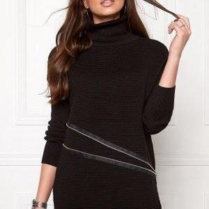 Object Nadine L/S zip pullover Black