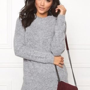 Object Nina nonsia L/S knit Medium grey melange