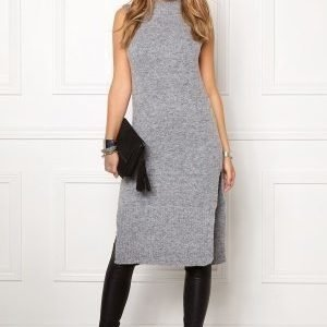 Object Nina nonsia S/L knit Medium grey melange