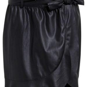Object Objdonna Pu Skirt Lyhyt Pe-Hame