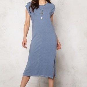 Object Sandy S/S Long Dress Stonewash