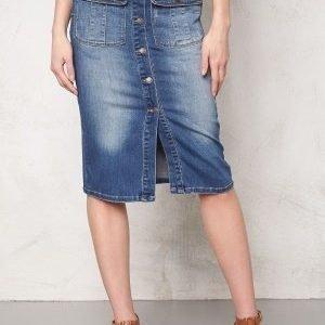 Object Seven Denim Skirt Medium Blue Denim