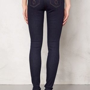 Object Skinny Sally Rinse Jeans Dark Blue Denim