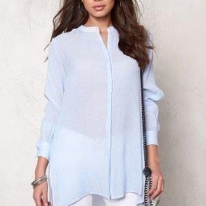 Object Summer L/S Long Shirt Light Blue Denim