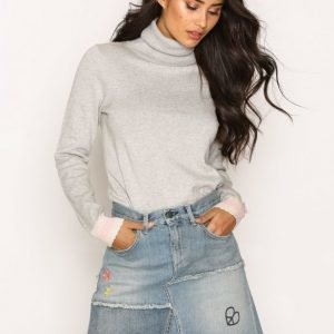 Odd Molly Band Jeans Skirt Minihame Mid Blue