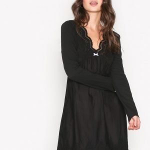 Odd Molly Blossom Dress Pitkähihainen Mekko Almost Black