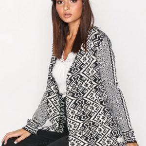 Odd Molly Buzzard Wrap Cardigan Neulepusero Black