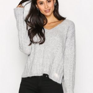 Odd Molly Clockwise Sweater Neulepusero Light Grey Melange