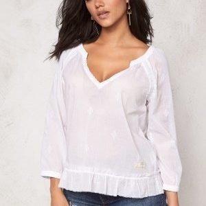Odd Molly Escape l/s blouse Bright White