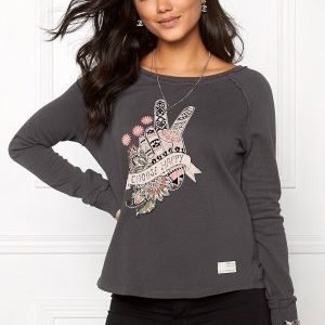 Odd Molly Happy Print Sweater Asphalt