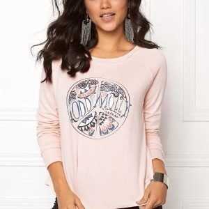 Odd Molly Happy Print Sweater Shell