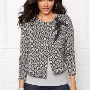 Odd Molly Knitted wings cardigan Almost Black M 2