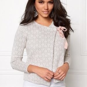 Odd Molly Knitted wings cardigan Light grey melange