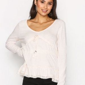 Odd Molly Whiteness L / S Blouse Arkipaita Shell