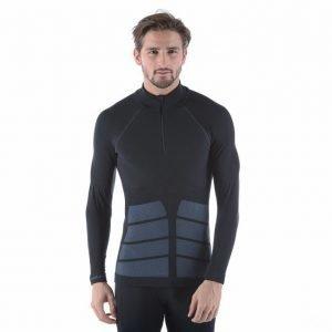 Odlo Shirt L/S Turtle Neck 1/2 Zip Evolution Warm Kerrastopusero Musta