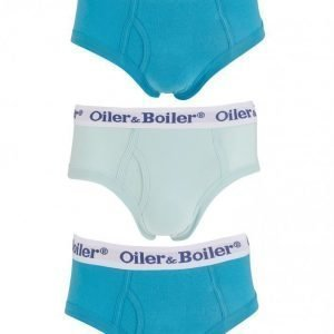 Oiler & Boiler 5015 Brief 3-Pack Plains Alushousut Sininen
