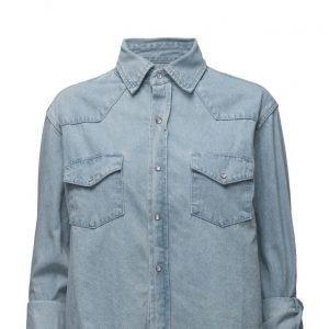 One Teaspoon Alaskan Cropped Shirt pitkähihainen paita