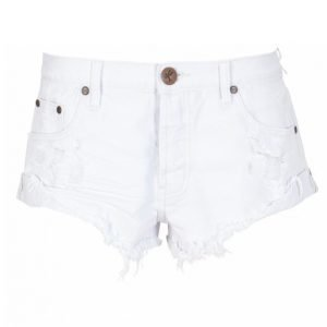 One Teaspoon White Beauty Bandits Shortsit